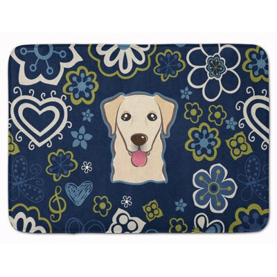Flower Retriever Memory Foam Bath Rug