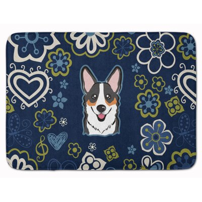 Flower Sable Corgi Memory Foam Bath Rug Color: Black/Brown