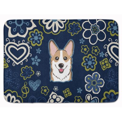 Flower Sable Corgi Memory Foam Bath Rug Color: Sable