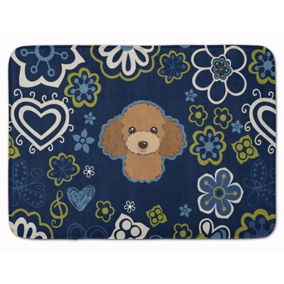 Flower Poodle Memory Foam Bath Rug Color: Chocolate
