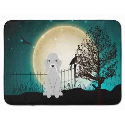 Halloween Scary Bedlington Terrier Memory Foam Bath Rug