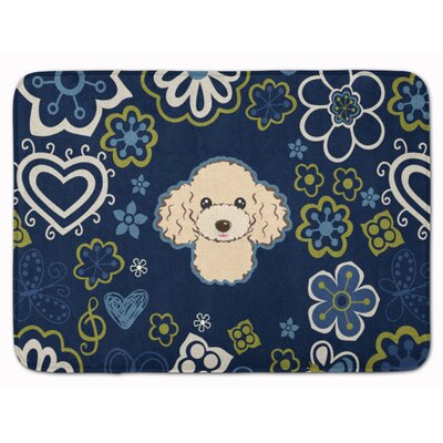 Flower Poodle Memory Foam Bath Rug Color: Cream
