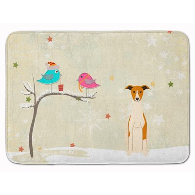 Christmas Presents Friends Whippet Memory Foam Bath Rug