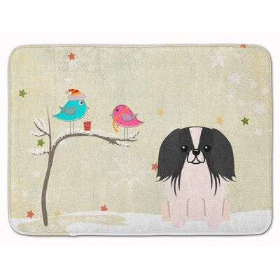 Christmas Pekingese Memory Foam Bath Rug