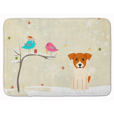 Christmas Presents Jack Russell Terrier Memory Foam Bath Rug