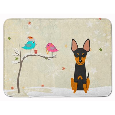 Christmas Presents English Toy Terrier Memory Foam Bath Rug