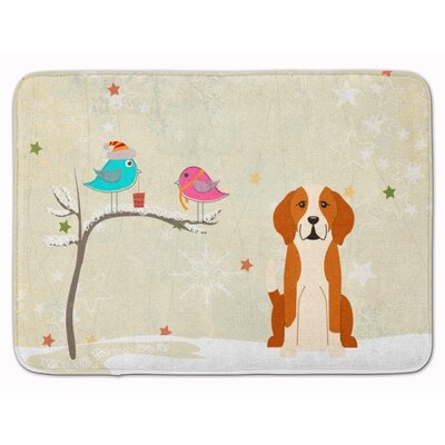 Christmas Presents English Foxhound Memory Foam Bath Rug