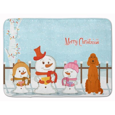 Merry Christmas Carolers Irish Setter Memory Foam Bath Rug
