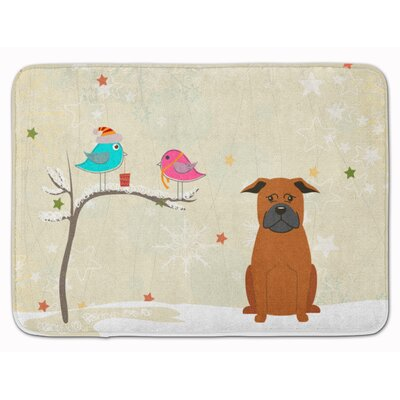 Christmas Chinese Chongqing Dog Memory Foam Bath Rug