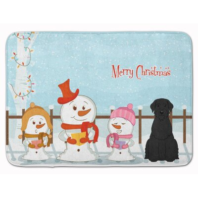 Merry Christmas Giant Schnauzer Memory Foam Bath Rug