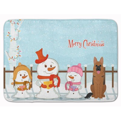 Merry Christmas German Shepherd Memory Foam Bath Rug