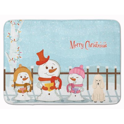 Merry Christmas Carolers Poodle Memory Foam Bath Rug Color: White