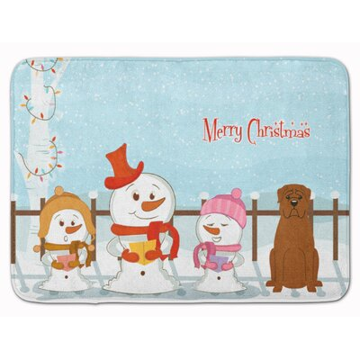 Christmas Carolers Dogue de Bourdeaux Memory Foam Bath Rug