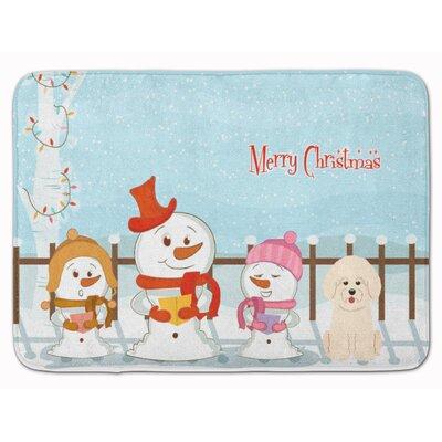 Merry Christmas Carolers Bichon Frise Memory Foam Bath Rug
