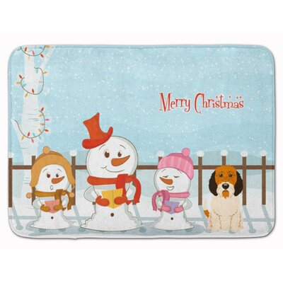 Christmas Petit Basset Griffon Veenden Memory Foam Bath Rug