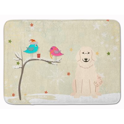 Christmas Presents Great Pyrenese Memory Foam Bath Rug