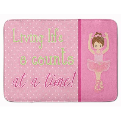 Ballet Memory Foam Bath Rug Color: Brown
