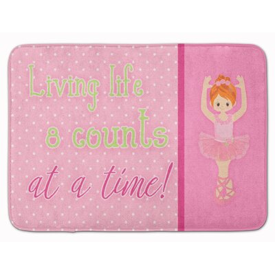 Ballet Memory Foam Bath Rug Color: Orange