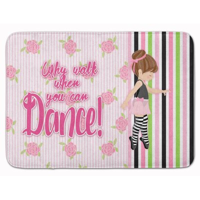 Ballet Dance Stripes Hair Memory Foam Bath Rug Color: Brown