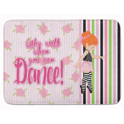 Ballet Dance Stripes Hair Memory Foam Bath Rug Color: Orange