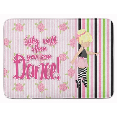 Ballet Dance Stripes Hair Memory Foam Bath Rug Color: Yellow