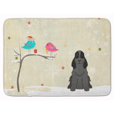 Christmas Presents Cocker Spaniel Memory Foam Bath Rug