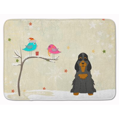 Christmas Cocker Spaniel Memory Foam Bath Rug