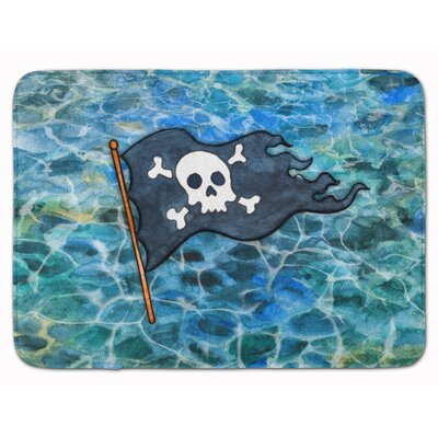 Pirate Flag Memory Foam Bath Rug