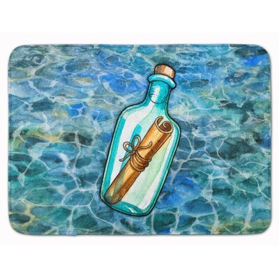 Message in a Bottle Memory Foam Bath Rug