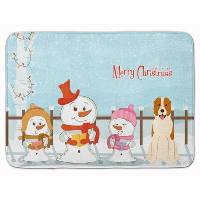 Christmas Central Asian Shepherd Dog Memory Foam Bath Rug