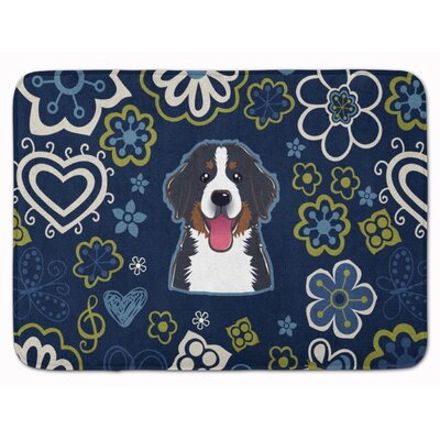 Bernese Mountain Dog Memory Foam Bath Rug