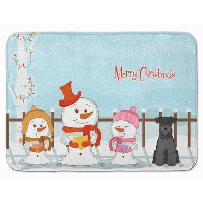 Christmas Miniature Schanuzer Black Memory Foam Bath Rug Color: Black