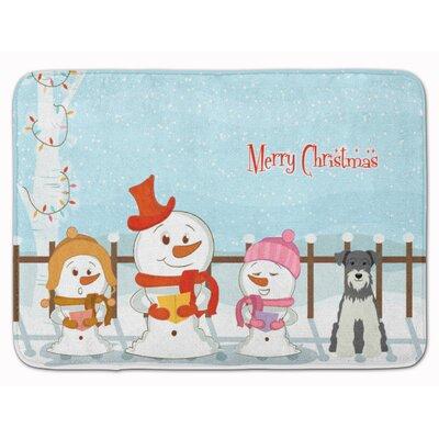 Christmas Carolers Miniature Schanuzer Memory Foam Bath Rug