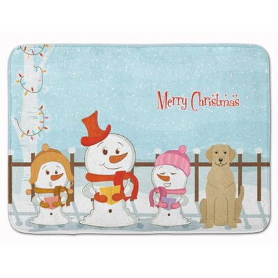 Merry Christmas Labrador Memory Foam Bath Rug