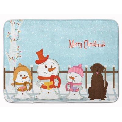 Christmas Carolers Labrador Memory Foam Bath Rug