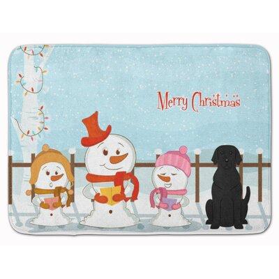 Merry Christmas Carolers Labrador Memory Foam Bath Rug