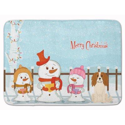 Merry Christmas Cavalier Spaniel Memory Foam Bath Rug