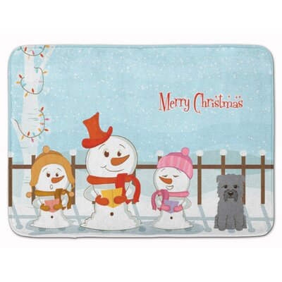 Merry Christmas Glen of Imal Memory Foam Bath Rug Color: Gray
