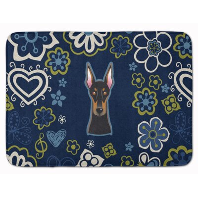 Doberman Pinscher Memory Foam Bath Rug