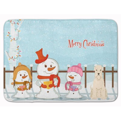 Christmas Soft Coated Wheaten Terrier Memory Foam Bath Rug