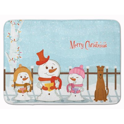Merry Christmas Carolers Irish Terrier Memory Foam Bath Rug
