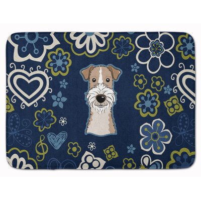 Wire Haired Fox Terrier Memory Foam Bath Rug