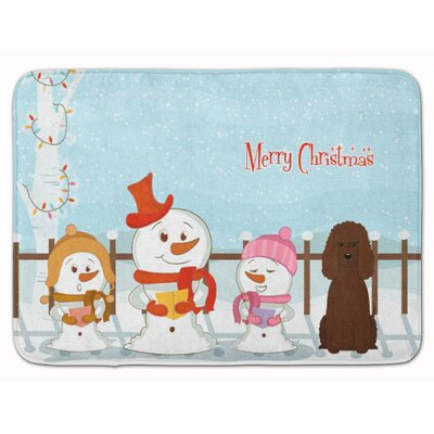 Merry Christmas Irish Water Spaniel Memory Foam Bath Rug