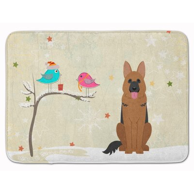 Christmas Presents German Shepherd Memory Foam Bath Rug