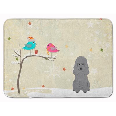Christmas Presents Friend Poodle Memory Foam Bath Rug