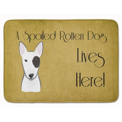 Bull Terrier Spoiled Dog Lives Here Memory Foam Bath Rug