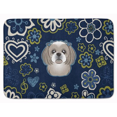 Shih Tzu Memory Foam Bath Rug Color: Silver