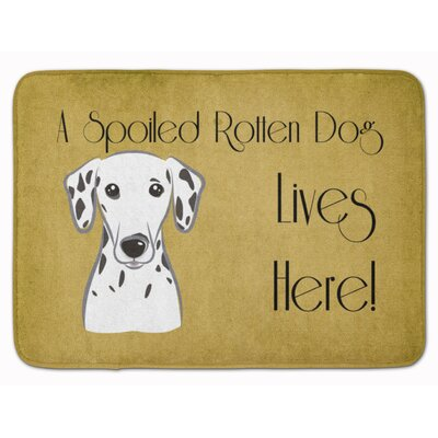 Dalmatian Spoiled Dog Lives Here Memory Foam Bath Rug