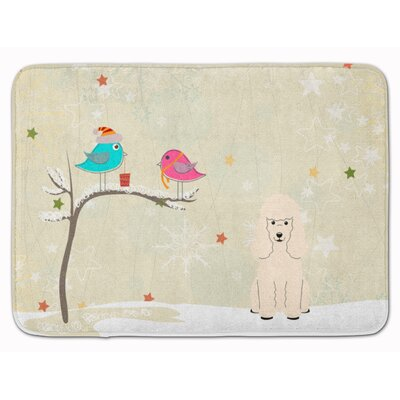Christmas Presents Friends Poodle Rectangle Memory Foam Bath Rug
