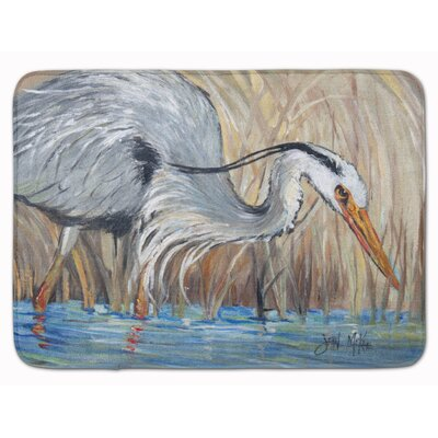 Heron in the Reeds Memory Foam Bath Rug